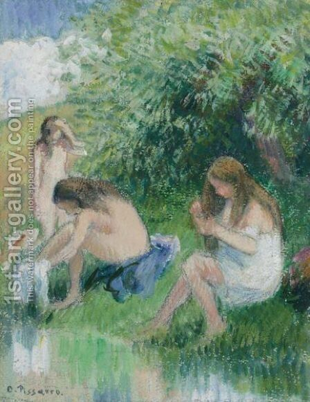 Baigneuses by Camille Pissarro - Reproduction Oil Painting