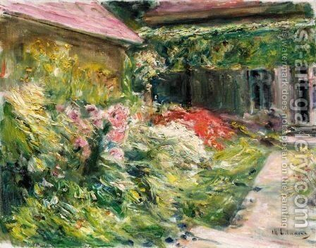 Blumenstauden Am Gartnerhauschen Nach Nordosten (Flowers By The House Of The Gardener, Northeast) by Max Liebermann - Reproduction Oil Painting