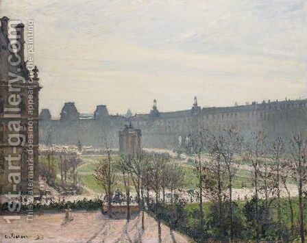 Le Carrousel, Matin D'Automne by Camille Pissarro - Reproduction Oil Painting