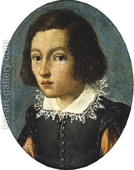 Head Of A Young Man by (after) Alessandro Allori - Reproduction Oil Painting