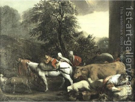 Jacob's Journey To Canaan by (after) Giacomo Bassano - Reproduction Oil Painting