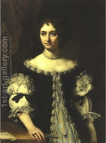Portrait Of Maria Madalena Rospigliosi (1645-1695) by (after) Carlo Maratta Or Maratti - Reproduction Oil Painting
