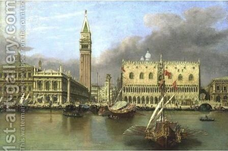 View Of The Doge's Palace by (after) Michele Marieschi - Reproduction Oil Painting