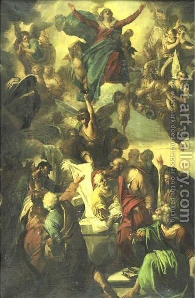 Assumption Of The Virgin by Italian School - Reproduction Oil Painting
