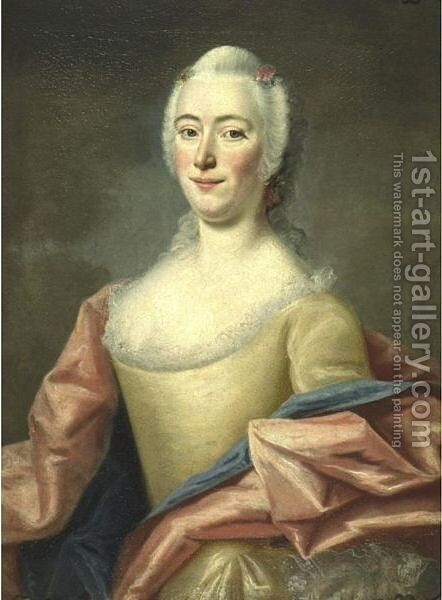 Portrait Of A Lady by (after) Longhi, Pietro - Reproduction Oil Painting
