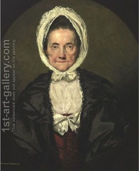 Portrait Ot Mrs. Mary Thompson by (after) Gilbert Stuart - Reproduction Oil Painting