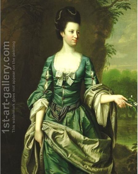 Portrait Of A Lady, Said To Be Lady Dashwood by (after) Hudson, Thomas - Reproduction Oil Painting
