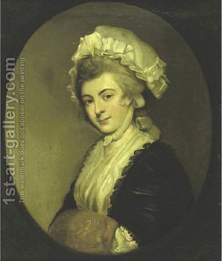 Portrait Of Mrs. Robinson by (after) Romney, George - Reproduction Oil Painting