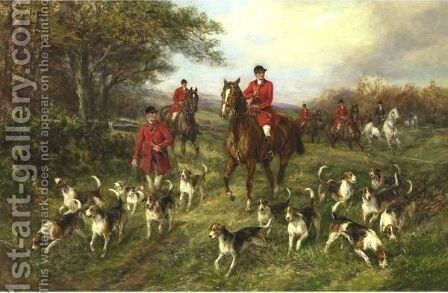 Finding The Scent by Heywood Hardy - Reproduction Oil Painting