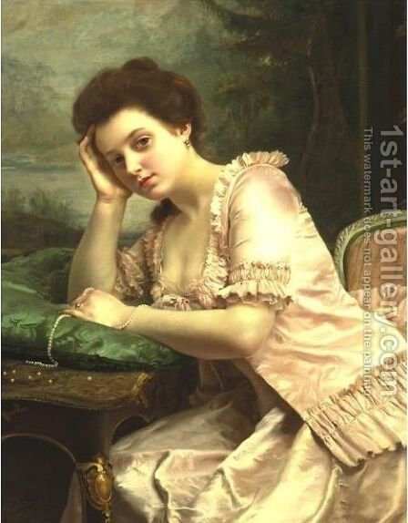 The Broken Strand by Gustave Jean Jacquet - Reproduction Oil Painting