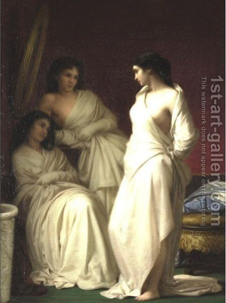 The Three Beauties by Michele Rapisardi - Reproduction Oil Painting