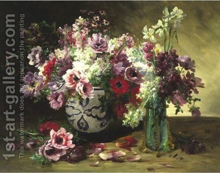 Still Life With Flowers by Jacques Van Coppenolle - Reproduction Oil Painting