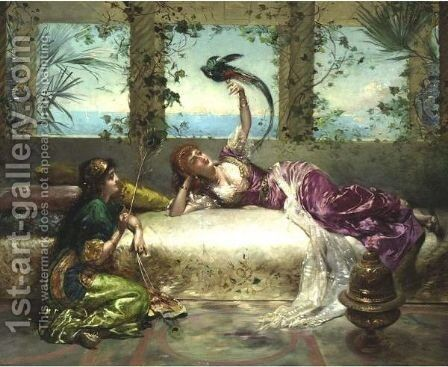The Harem Beauties by Edouard Frédéric Wilhelm Richter - Reproduction Oil Painting