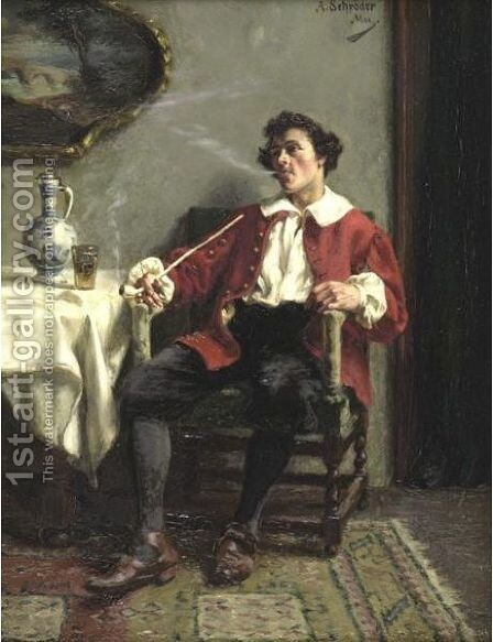 Leisure by Albert Friedrich Schroder - Reproduction Oil Painting