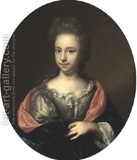 Portrait Of A Young Woman by Arnold Boonen - Reproduction Oil Painting