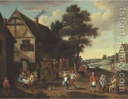 Village Kermesse by (after)  David The Younger Teniers - Reproduction Oil Painting