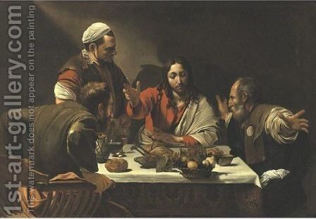 The Supper At Emmaus by (after) Michelangelo Merisi Da Caravaggio - Reproduction Oil Painting
