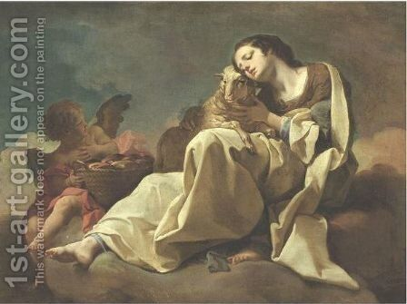 Saint Agnes by Corrado Giaquinto - Reproduction Oil Painting