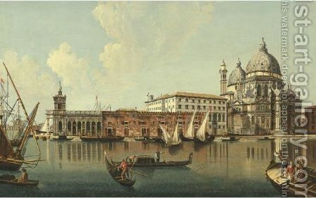 View Of The Punta Della Dogana And Santa Maria Della Salute, Venice by (after) Michele Marieschi - Reproduction Oil Painting