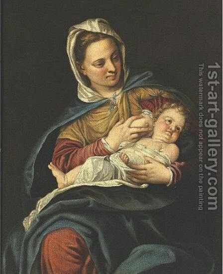 Madonna And Child by (after) Paolo Veronese (Caliari) - Reproduction Oil Painting