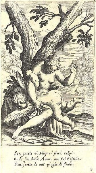Scherzi D'Amore 9 Prints by Matthäus the Elder Merian - Reproduction Oil Painting