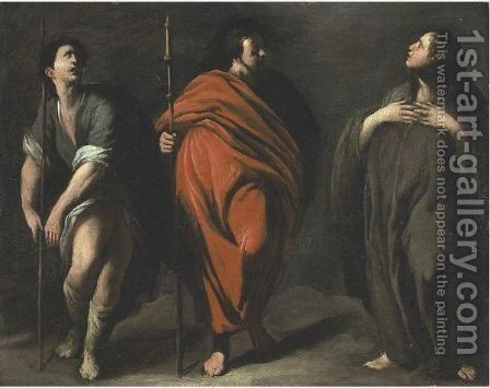 Three Standing Saints by (after) Bernardo Cavallino - Reproduction Oil Painting