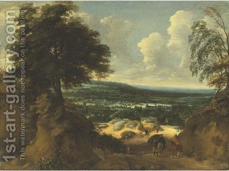 Landscape In Flanders by Jaques D'Arthois - Reproduction Oil Painting