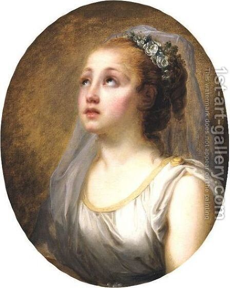 Une Vestale by (after) Greuze, Jean Baptiste - Reproduction Oil Painting