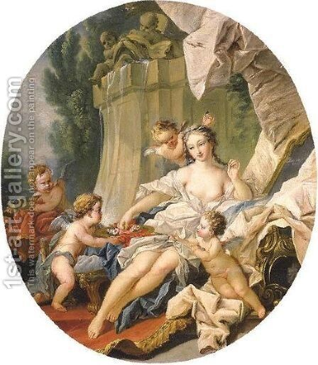 The Toilet Of Venus by (after) Francois Boucher - Reproduction Oil Painting