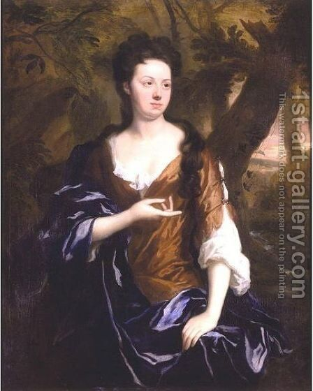 Portrait Of Mrs. Fisher Of Packington, Warwick by Sir Godfrey Kneller - Reproduction Oil Painting