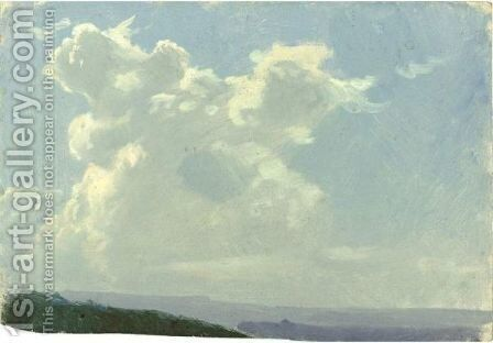Cloud Study by Auguste Bonheur - Reproduction Oil Painting