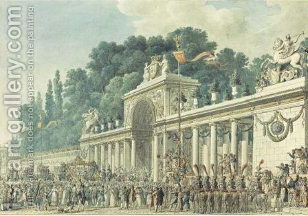 Imperial Wedding Ceremony At The Tuileries by Charles Percier - Reproduction Oil Painting