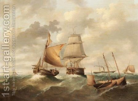 Sail And Steam by (after) Ebenezer Colls - Reproduction Oil Painting