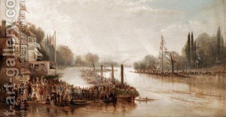 The Grand Metropolitan Regatta by (after) James Baker Pyne - Reproduction Oil Painting
