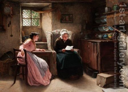 Asking Granny's Advice by Haynes King - Reproduction Oil Painting