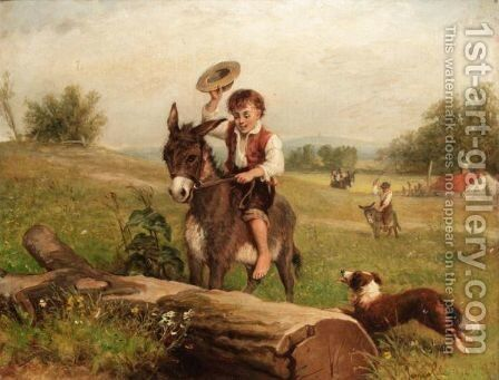 Good News by (after) Erskine Nicol - Reproduction Oil Painting