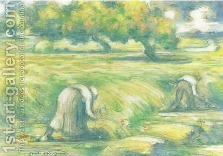 Le Ble by Charles Angrand - Reproduction Oil Painting