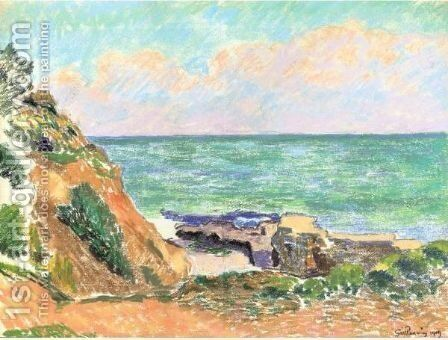 Vue De Mer by Armand Guillaumin - Reproduction Oil Painting