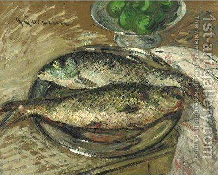 Poissons by Gustave Loiseau - Reproduction Oil Painting