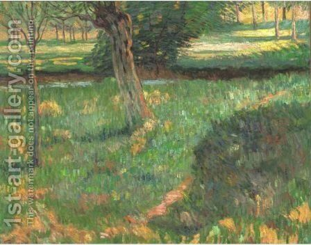 Paysage 3 by Armand Guillaumin - Reproduction Oil Painting