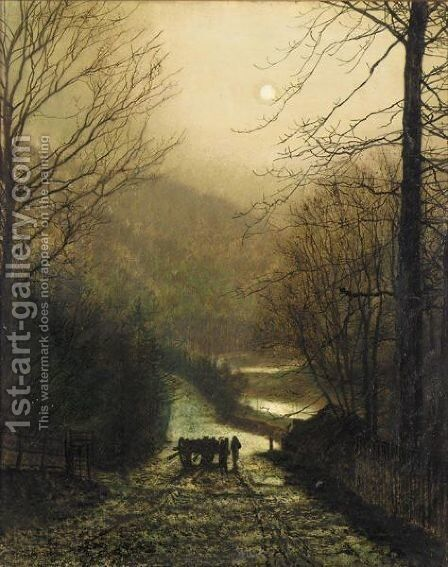 Forge Valley, Near Scarborough 3 by John Atkinson Grimshaw - Reproduction Oil Painting