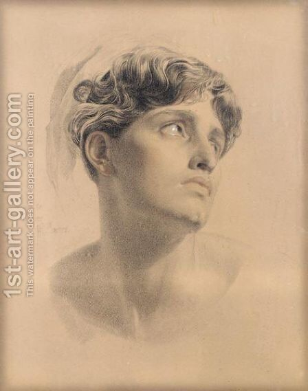 Study For Antigone by Anthony Frederick Sandys - Reproduction Oil Painting