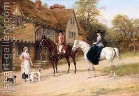 The Gamekeeper's Daughter by Heywood Hardy - Reproduction Oil Painting