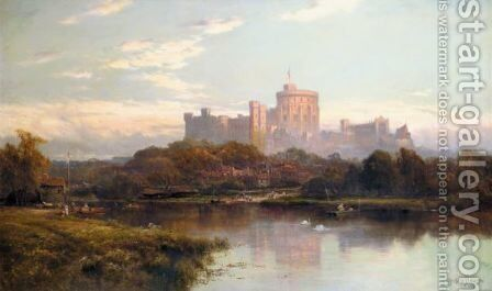 Royal Windsor by Alfred de Breanski - Reproduction Oil Painting