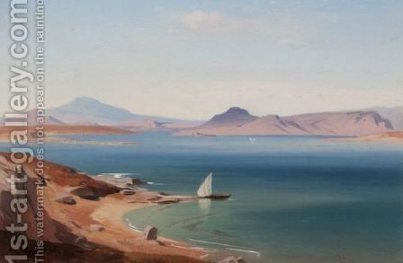 A View Of Salamis by August Loffler - Reproduction Oil Painting