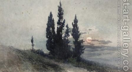 A View Of Corfu by Angelos Giallina - Reproduction Oil Painting