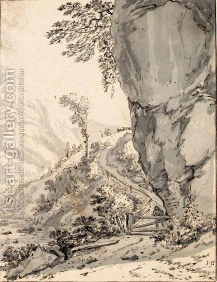 View Of An Alpine Valley (Glarus) by Jan Hackaert - Reproduction Oil Painting