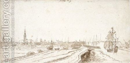 View Of Middleburg by Dutch School - Reproduction Oil Painting