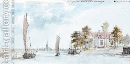 The Village Of Wilhelmsburg, Hamburg by Charles Gore - Reproduction Oil Painting