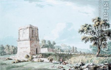 The Tomb Of Theron, Agrigentum, Sicily by (after) Thomas Hearne - Reproduction Oil Painting
